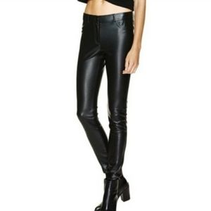 Wilfred Free Vegan Faux Leather Pleather Pants 0
